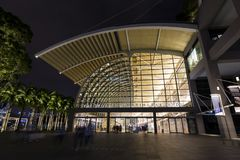 Singapur, el 10 de diciembre de 2017: Los Shoppes en Marina Bay Sands Imagen de archivo