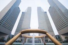 SINGAPUR, EL 13 DE OCTUBRE DE 2015: la fuente de la riqueza ha sido de registro Foto de archivo libre de regalías