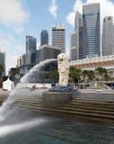 Singapur - el Merlion imagenes de archivo