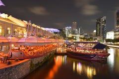 Singapur en la noche fotos de archivo libres de regalías