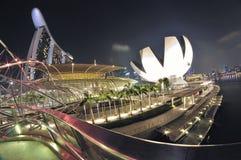 Singapur en la noche Fotografía de archivo