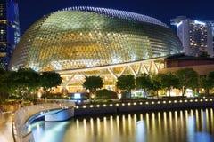 Singapur, Evening miasto Esplanada teatr Zdjęcia Royalty Free