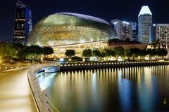 Singapur, Evening miasto Esplanada teatr Fotografia Royalty Free