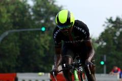 Singapur-Feier-Straßen-Reihe Team Time Trials Lizenzfreie Stockfotografie
