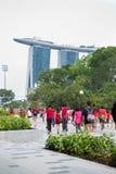 Singapur feiert Nationaltag SG50 Stockbilder