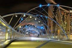 Singapur Felix mosta nocy widok Zdjęcie Royalty Free