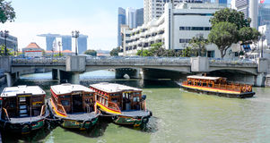 Singapur ferryboats Obrazy Royalty Free