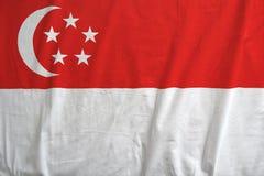 Singapur flaga państowowa tła tekstura obraz royalty free