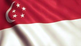 Singapur-Flaggen-Animations-Video - 4K