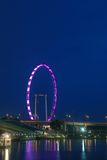 Singapur-Flugblatt unter der Dämmerung Stockbild