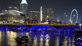 Singapur-Fluss. stock video footage