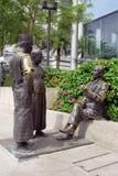 Singapur-Flussufer-Skulptur Stockbild