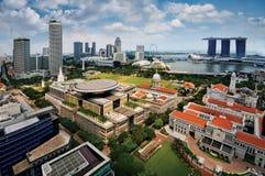 Singapur-Geschäftsgebiet Stockfotos