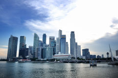 Singapur-Geschäftsgebiet-Skyline Lizenzfreies Stockbild