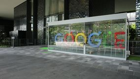Singapur Google Hauptquartier stock video