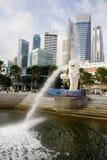 Singapur-Grenzstein Stockfotografie