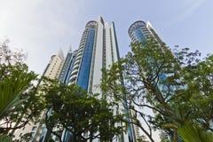 Singapur-Höhen-Anstiege lizenzfreie stockbilder