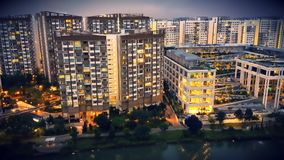 Singapur HDB & x28; Jawny Housing& x29; obrazy royalty free