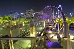 Singapur: Helix most Zdjęcia Royalty Free