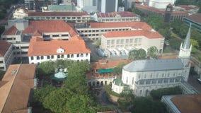 Singapur historycznych budynków obrazki przy dniem Obraz Stock