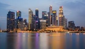 Singapur horisont Royaltyfria Bilder
