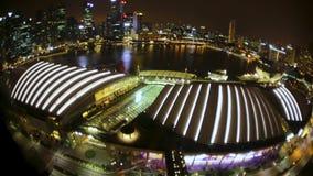 singapur Hotel Marina Bay Timelapse 4K stock video footage