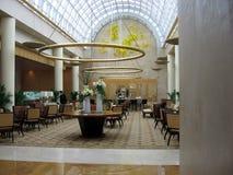 Singapur. Hotelkaffeestab Lizenzfreie Stockfotos