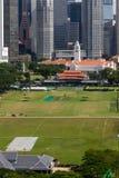 Singapur im Stadtzentrum gelegen, Kricket-Verein und Victoria Theatre und Conce lizenzfreie stockfotos