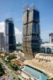 Singapur-im Stadtzentrum gelegener, Südstrand-Turm und Marriott-Hotel Lizenzfreies Stockfoto