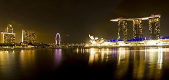 Singapur-Jachthafen-Schacht versandet Panorama Lizenzfreie Stockfotos