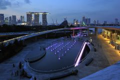 Singapur-Jachthafen-Schwall lizenzfreie stockfotos