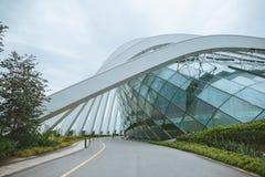 SINGAPUR - 19. JANUAR 2016: schöne städtische Szene mit modernem Stadtgebäude lizenzfreie stockbilder