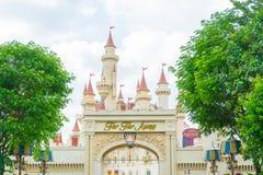 Singapur am 20. Juli; Schloss 2015 im Universalstudio Singapur Lizenzfreies Stockbild