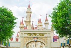 Singapur am 20. Juli; Schloss 2015 im Universalstudio Singapur Lizenzfreie Stockfotos