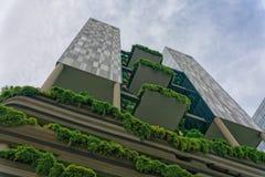 Singapur - 10. Juni 2018: Hotel PArkroyal Ansicht des Äußeren lizenzfreie stockbilder