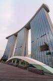 Singapur - junio 13,2014: Marina Bay Sands Hotel Fotografía de archivo libre de regalías