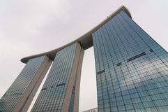 Singapur - junio 13,2014: Marina Bay Sands Hotel Fotografía de archivo