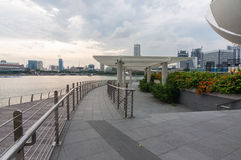 Singapur - junio 13,2014: Marina Bay Sands Hotel Uno del MES Imagen de archivo libre de regalías