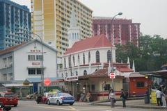 Singapur, królowej ulica Zdjęcie Stock