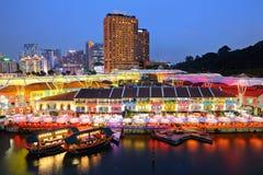 Singapur linia horyzontu Obraz Stock