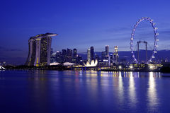 Singapur linia horyzontu zdjęcia royalty free