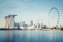 Singapur linia horyzontu Obraz Royalty Free