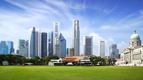 Singapur linia horyzontu. Zdjęcia Royalty Free