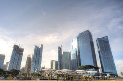 Singapur linia horyzontu CBD Obrazy Stock