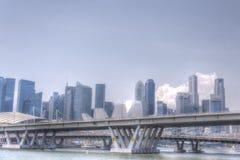 Singapur linia horyzontu CBD Zdjęcia Royalty Free