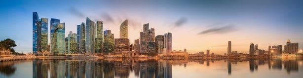Singapur linia horyzontu i widok Marina zatoka Zdjęcia Stock