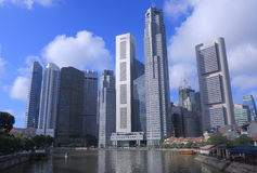Singapur linii horyzontu dzień Zdjęcia Stock