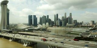 Singapur linii horyzontu widok z lotu ptaka Fotografia Stock