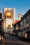 SINGAPUR, LIPIEC - 05, 2016: Sułtanu meczet na Północnej bridżowej drodze ja Zdjęcie Royalty Free
