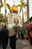 SINGAPUR, LIPIEC - 05, 2016: Sułtanu meczet na Północnej bridżowej drodze ja Zdjęcia Royalty Free